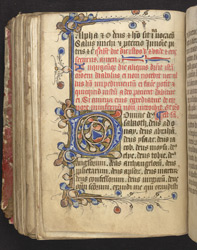 Illuminated Initial And Border, In The Prayerbook Of John Northewode f.89v